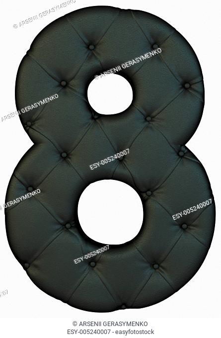 Luxury black leather font 8 figure