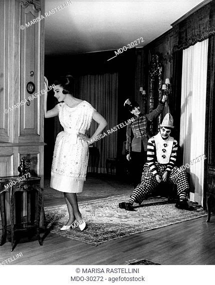Sylva Koscina wearing an haute couture dress. Yugoslavian-born Italian actress Sylva Koscina wearing an haute couture dress
