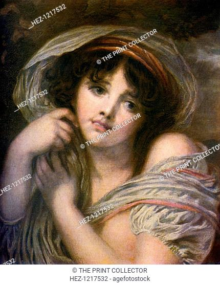 'A Girl', late 18th century, (1912). A colour print from Famous Paintings, with an introduction by Gilbert Chesterton, Cassell and Company, (London, New York