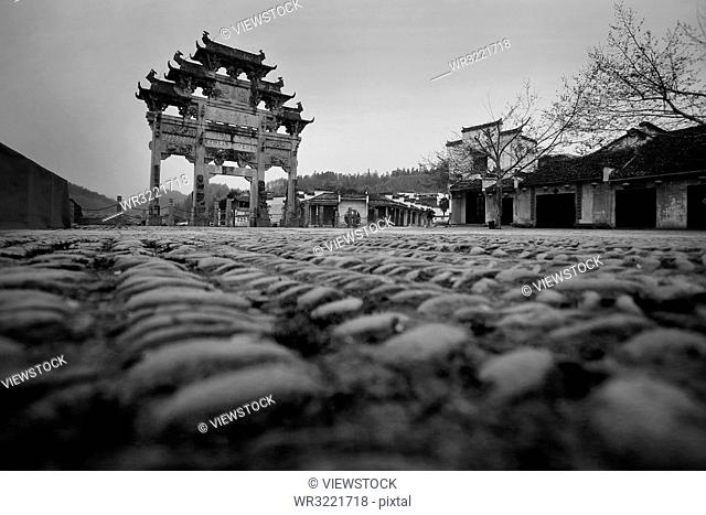 Yixian county in anhui province XiDi ancient archway