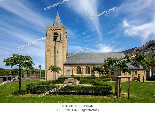 The church Onze-Lieve-Vrouw-ter-Duinen / Our Lady of the Dunes at Mariakerke near Ostend, Belgium