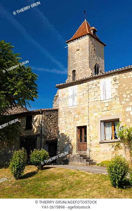 France, Gers (32), village of La Romieu on the way of Saint Jacques de Compostelle, Tower of Cardinal d'Aux