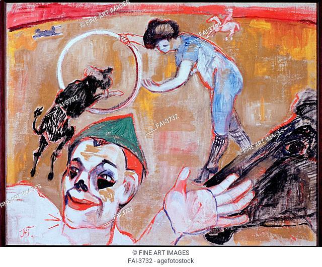 Circus. Goncharova, Natalia Sergeevna (1881-1962). Oil on canvas. Russian avant-garde. 1906. State Tretyakov Gallery, Moscow. 57x74. Painting