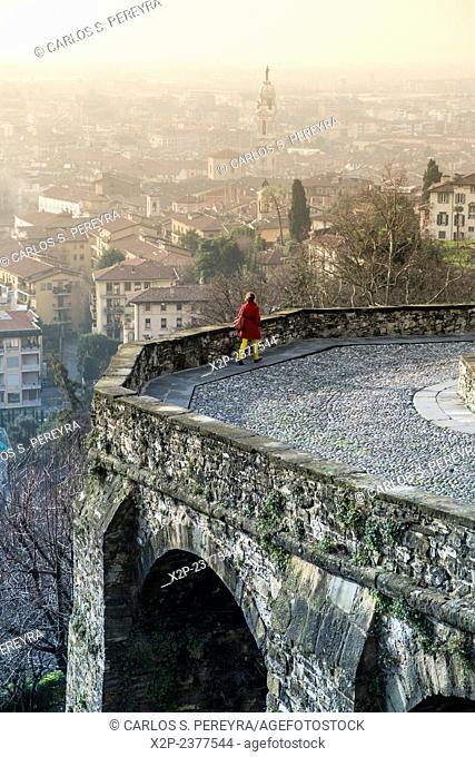 Panoramic of Bergamo, Italy