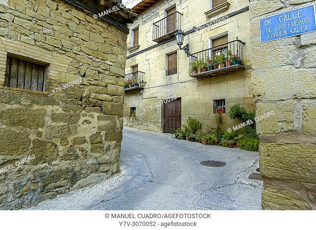 View of the town of Moreda. Rioja Alavesa, Alava, Basque Country, Spain