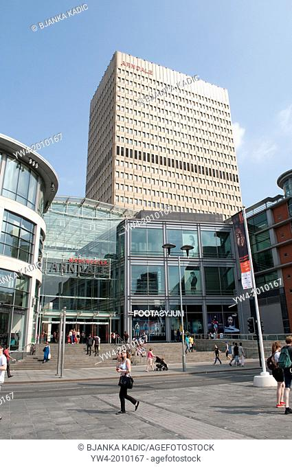 Exchange Square with Arndale Shopping Centre, Manchester, UK