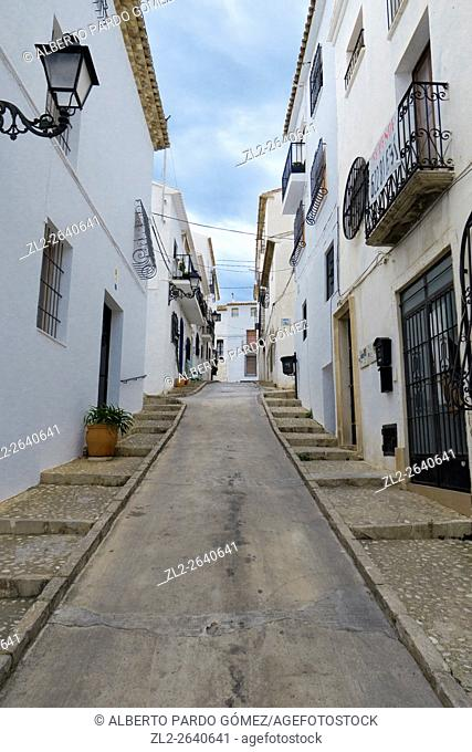Altea Street, alicante, Spain