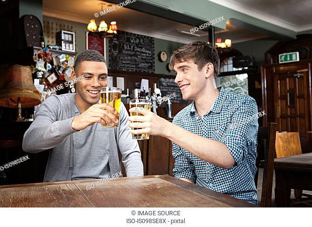 Young men in bar