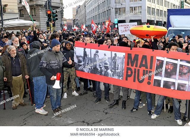 manifestazione antifascista, milano 24 febbraio 2018
