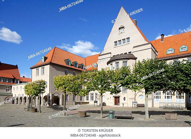 City hall complex, Jugendstil, Delmenhorst, Lower Saxony, Germany, Europe