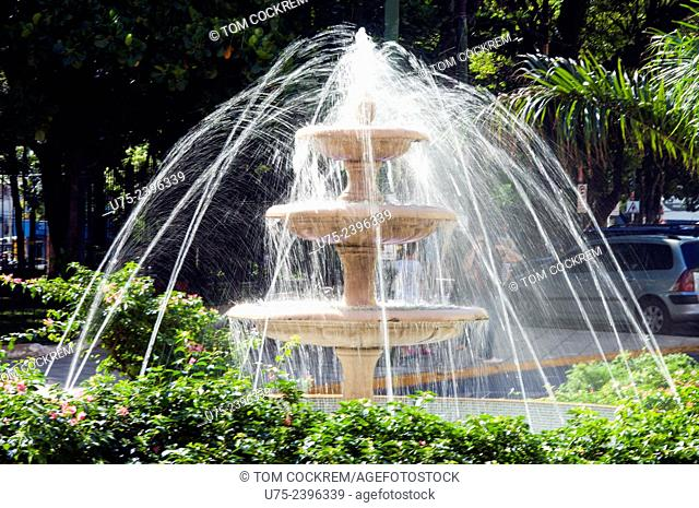 Fountain outside Uruguaya Plaza, Central Asuncion, Paraguay