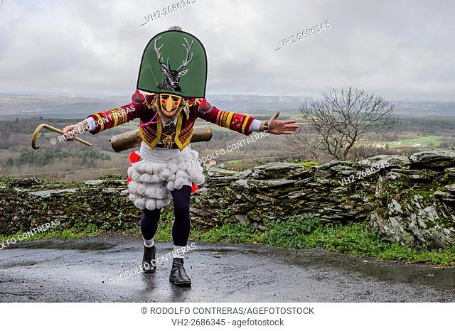 Carnival around Maceda villages in Orense (Galicia/Spain)