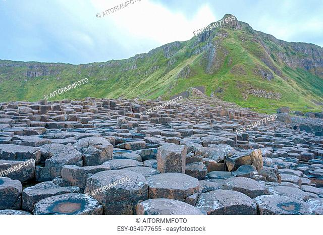 Landscape at The Giant s Causeway in North Antrim, Northern Ireland