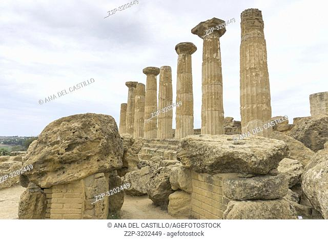 Hercules temple in the Valley of the Temples, Agrigento Sicily, Italy