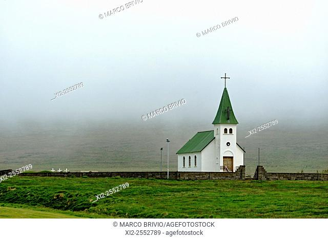 The Church at Tjorn on the Vatnsnes peninsula in Iceland. Its most renowned priests were without a doubt the Reverend Sigurdur Norland from Hindisvík and his...