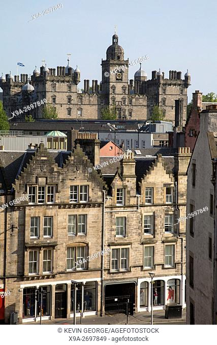 Grassmarket and George Heriot's School; Scotland; Edinburgh
