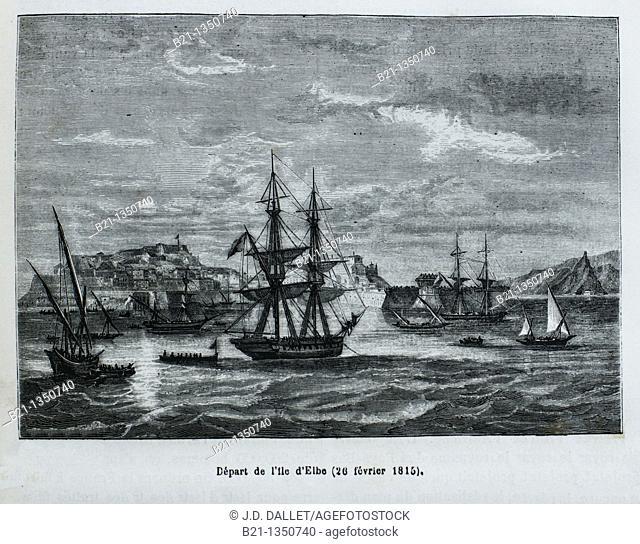 France, History, XIXc - Napoleon: Départ de l'Ile d'Elbe 26 février 1815