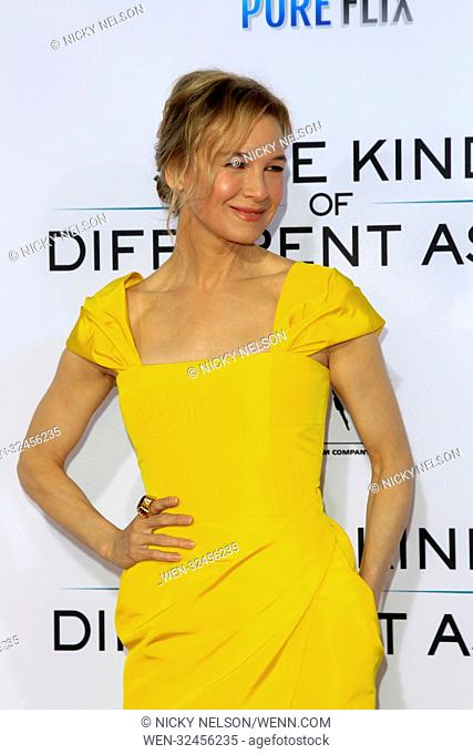 Los Angeles premiere of 'Same Kind of Different as Me' at the Village Theater - Arrivals Featuring: Renee Zellweger Where: Westwood, California