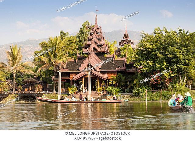 Inle Resort Hotel, Inle Lake, Nyaung Shwe Township, Shan State, Myanmar, (Burma)