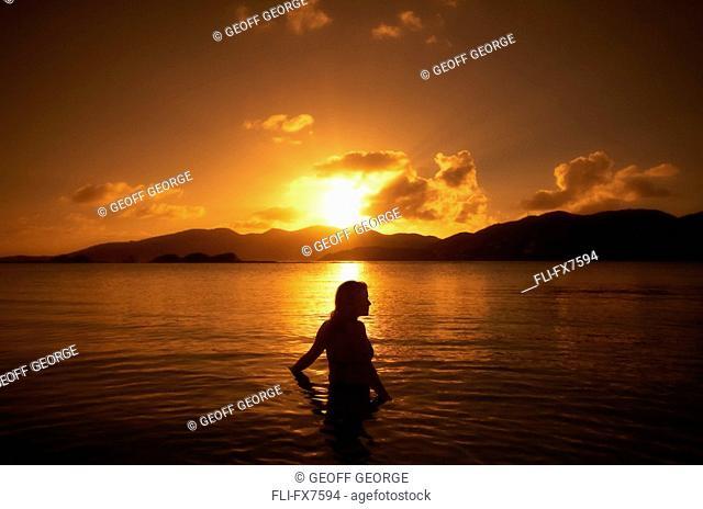 Swimming in Well Bay, Beef Island, British Virgin Islands