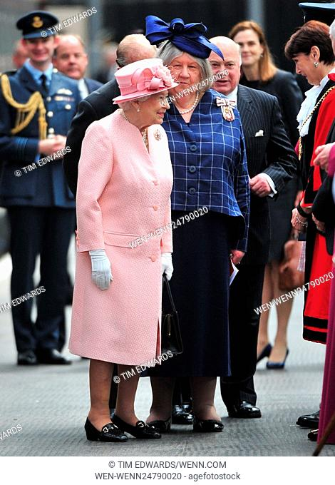 Queen Elizabeth II visits Liverpool as part of her 90th birthday celebrations Featuring: HRH The Queen, Prince Phillip Where: Liverpool