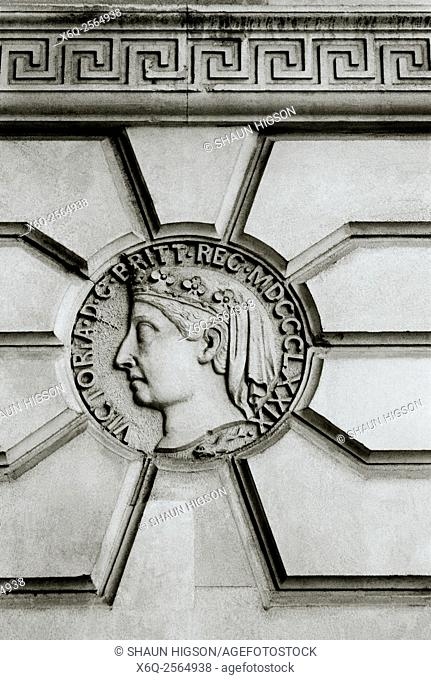 Queen Victoria in the City of London in the United Kingdom