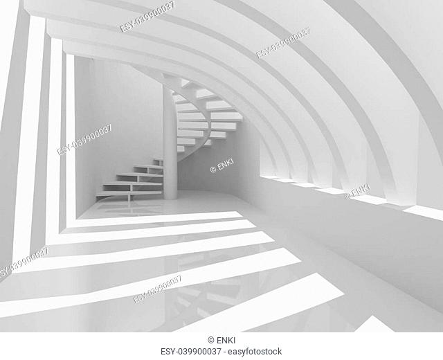 Modern hall with stairs