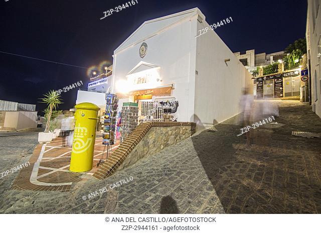 Mojacar white village in Almeria, Spain Nightscape