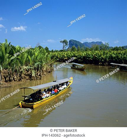 Excursion boats on Phang Nga Bay near Phuket