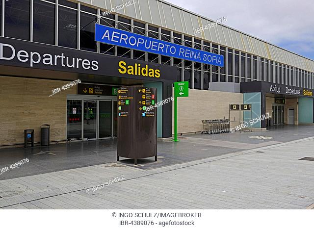 Entrance, Tenerife South Reina Sofia Airport, Tenerife, Canary Islands, Spain