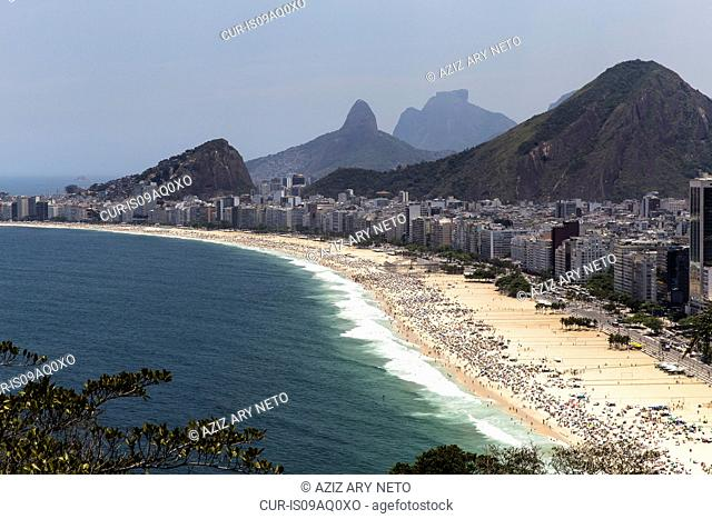 View of Copacabana coastline, Rio De Janeiro, Brazil