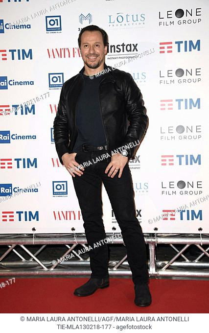 Stefano Accorsi during the red carpet of film A casa tutti bene, Rome, ITALY-12-02-2018