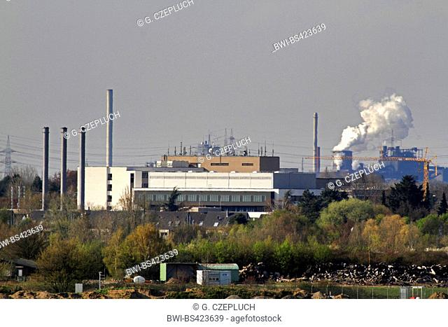 industrial plant near Kalkum, Germany, North Rhine-Westphalia, Duesseldorf