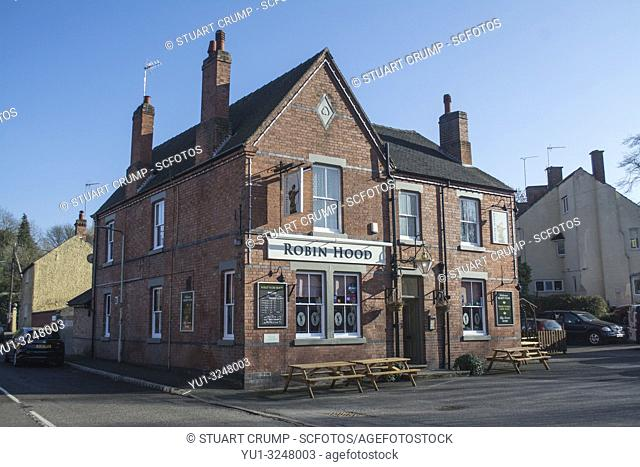 Robin Hood public house in the Leicestershire village of Swannington