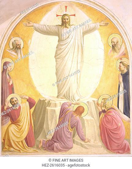The Transfiguration of Jesus. Artist: Angelico, Fra Giovanni, da Fiesole (ca. 1400-1455)