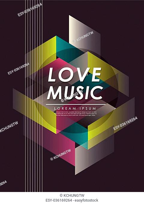 modern love music poster in dark tones