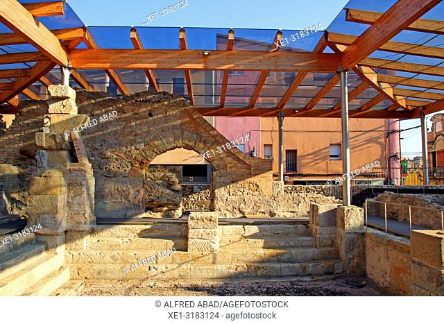 remains of the Roman spa of Sant Grau, Caldes de Malavella, Catalonia, Spain