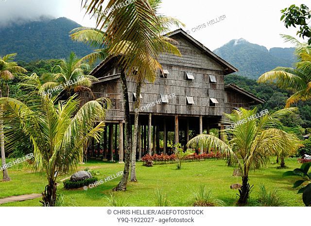 Melanau Tribal Longhouse or Tall House Sarawak Borneo Malaysia