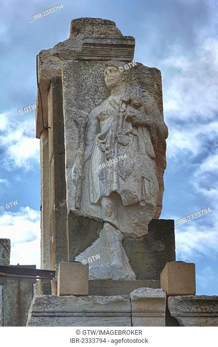 Statue near the Hydreion, Terrace House Street, Ephesus, Izmir Province, Turkey