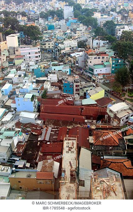 View of Ho Chi Minh City, Saigon, South Vietnam, Vietnam, Asia