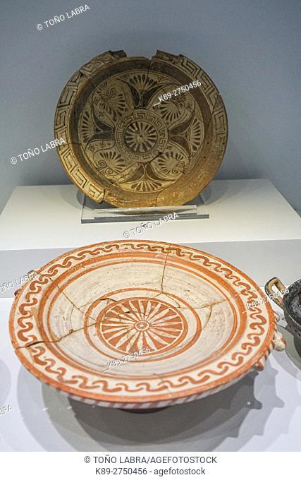 Ceramics from Gryneion (7th Century BC). Bergama Museum. Ancient Classic Greece. Asia Minor. Turkey