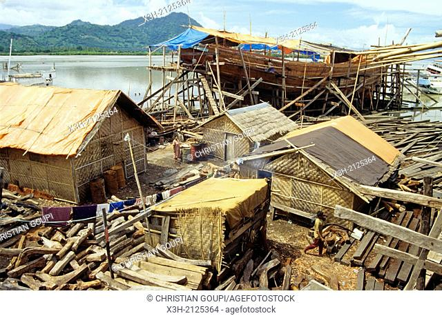 shipyard around Bima, Sumbawa island, Lesser Sunda Islands, Republic of Indonesia, Southeast Asia and Oceania