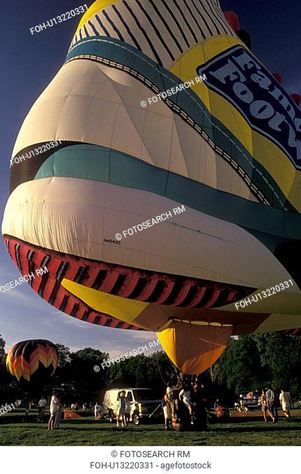 hot air balloon, Atlanta, sneaker, GA, Georgia, Hot air balloon shaped like a sneaker advertising Famous Footwear at the Dogwood Festival at Piedmont Park in...