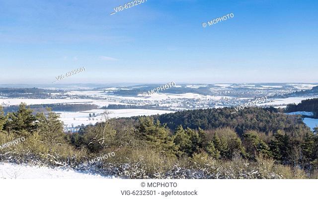 A winter scenery at Büchelberg Münklingen with a view to Merklingen and Weil der Stadt - 20/01/2016