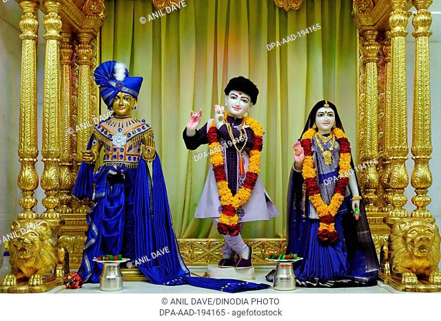 Baps shri swaminarayan temple, tithal, gujarat, india, Asia