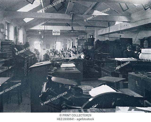 'In the Composing Room', 1916. Artist: Unknown