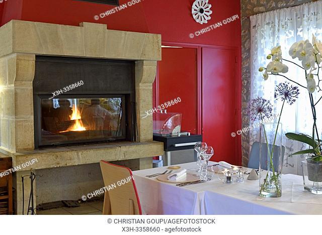 Restaurant Les Closeaux, Vallieres- les-Grandes, departement Loir-et-Cher, region Centre-Val de Loire, France, Europe/Restaurant Les Closeaux