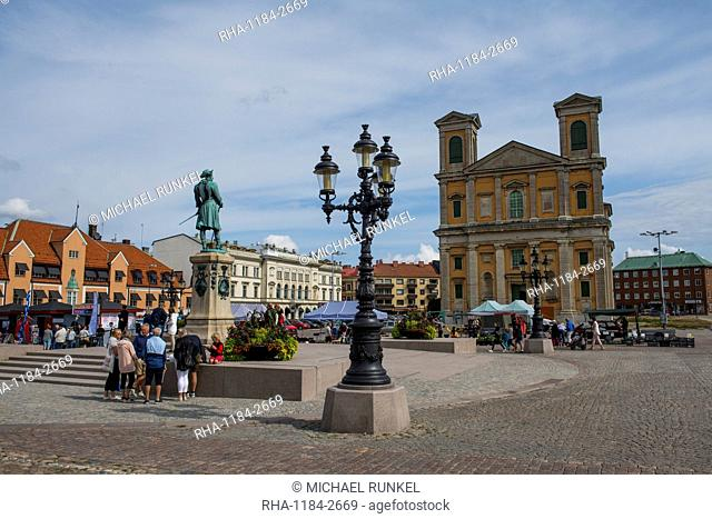 Town square of the Naval base of Karlskrona, UNESCO World Heritage Site, Sweden, Scandinavia, Europe