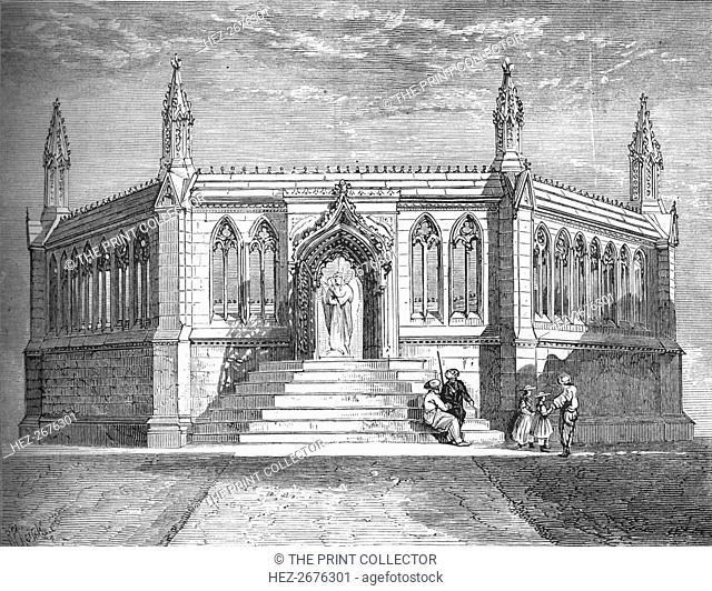 'Memorial Chapel at Cawnpore', c1880. Artist: Richard Principal Leitch