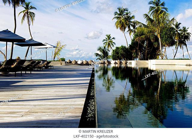 Main swimming pool at the Park Hyatt Maldives Hadahaa, Gaafu Alifu Atoll, North Huvadhoo Atoll, Maldives